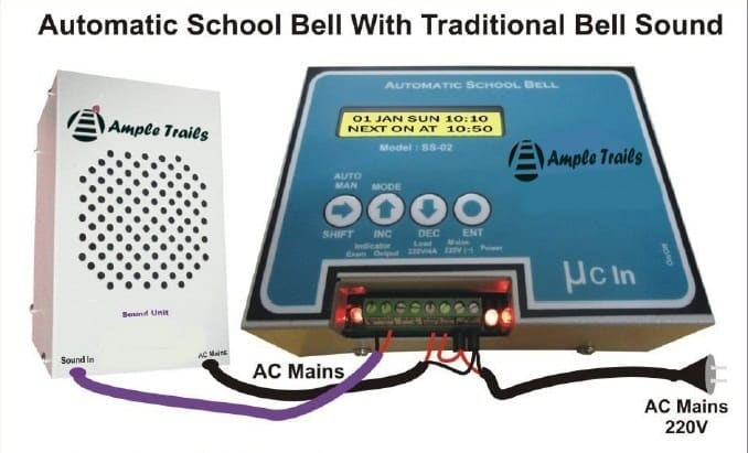 Automatic School Bell Traditional Bell Sound