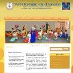 DAV School website designing web designing CBSE Website according to CBSE norms