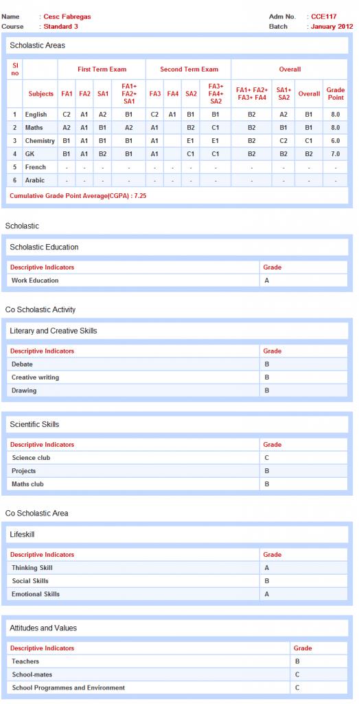 marksheet format in excel pdf