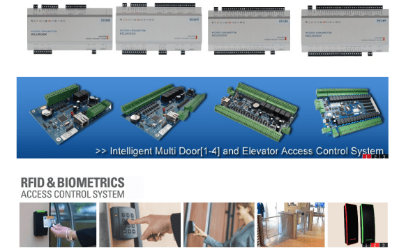 RFID Biometric Multi-Door Access Control Systems