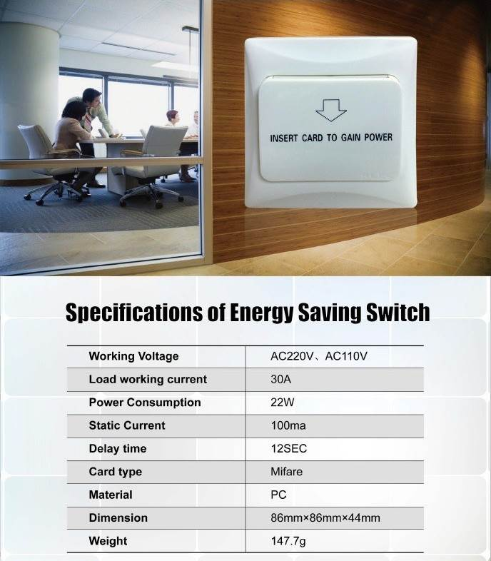 Energy Saver Switch for Hotel