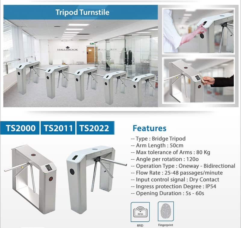 Half Height Turnstile Gates TS2000-Series