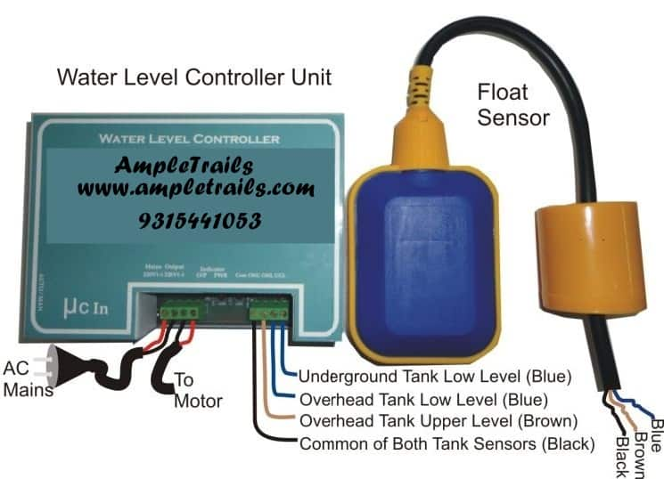Automatic Water Level Controller Motor Submersible