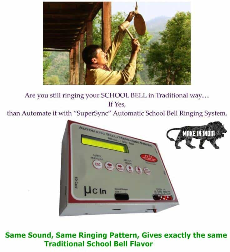 Automatic School Bell Ringing System with Micro-SD Card - Play your choice of Sounds as Bell
