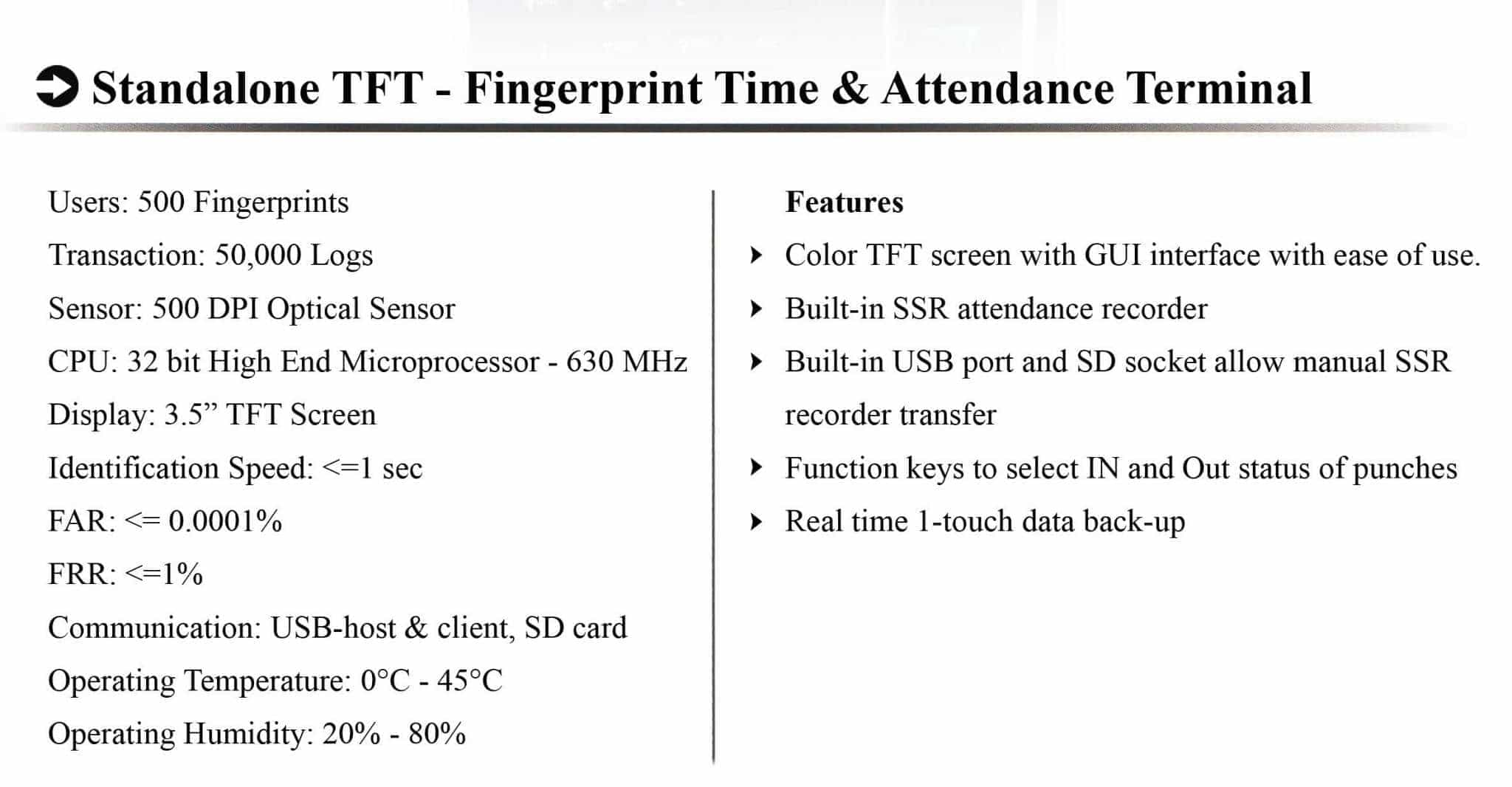 H 7 biometric fingerprint based attendance management system