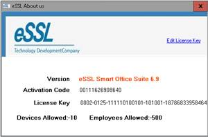 essl smart office activation code