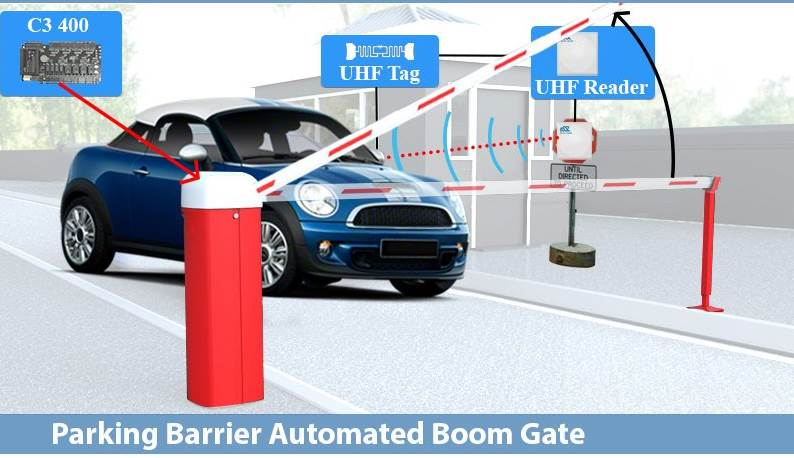 Rfid Based Automated Parking Gate Solution Boom Barrier