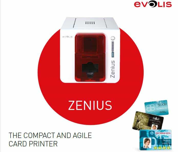 Evolis PVC Card Printer Zenius card printer