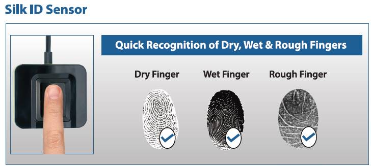 Silk ID Sensor Dry Wet Rough Fingers
