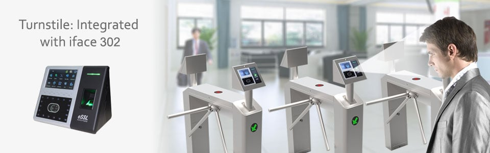 Turnstile Integrated Face Reader