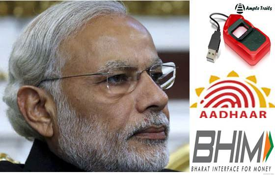 Fingerprint Scanner for BHIM Aadhaar App PM Modi