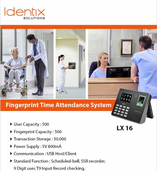 lx16 eSSL Idenix Biometric Attendance Machine