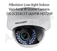 Hikvision Low-light Indoor Vari-focal IR Dome Camera DS-2CE56C5T-(A)VFIR HD720P