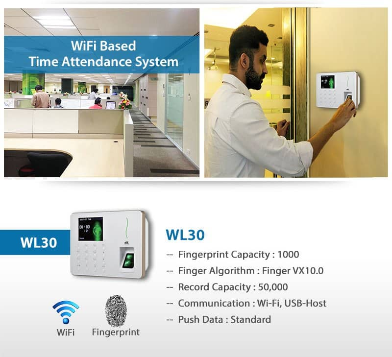 Wifi based Time Attendance System WL30