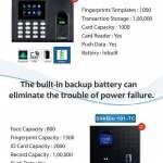 Biometric System Attendance Machine