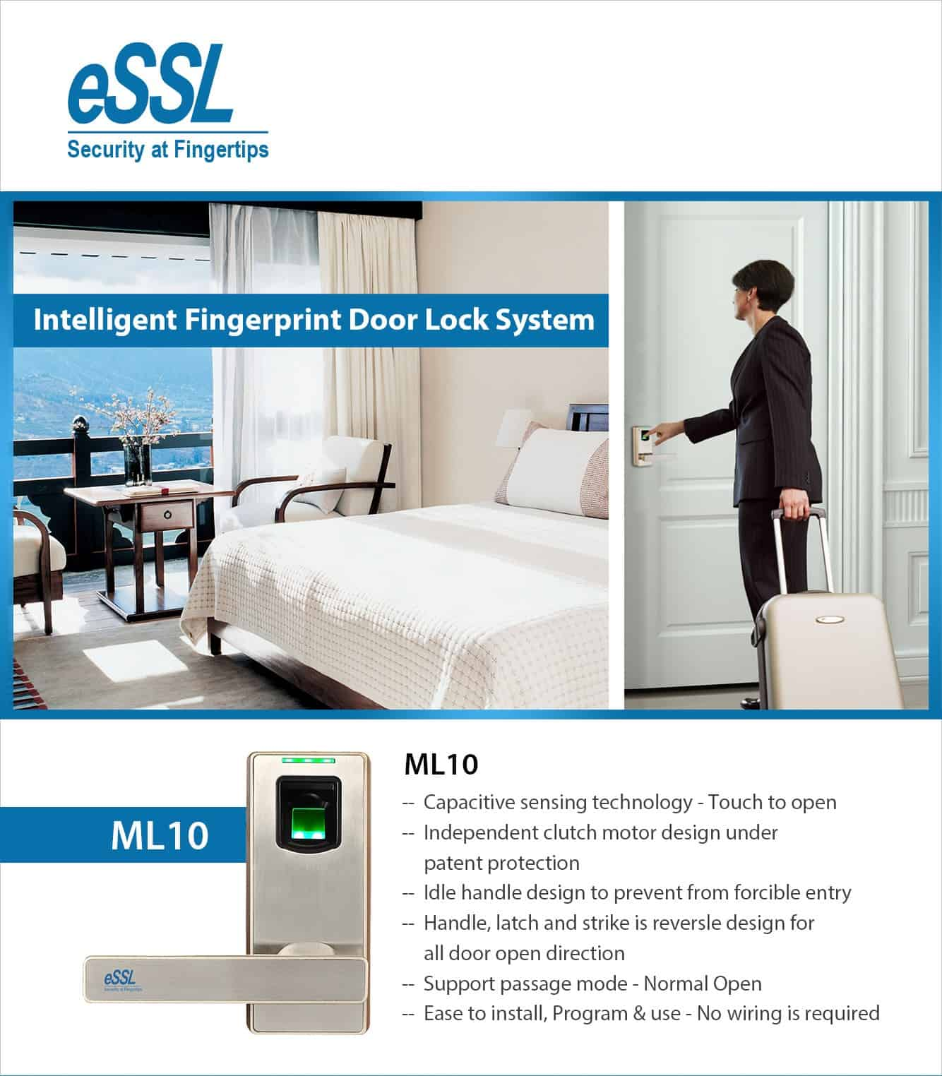 essl fingerprint door lock ML10