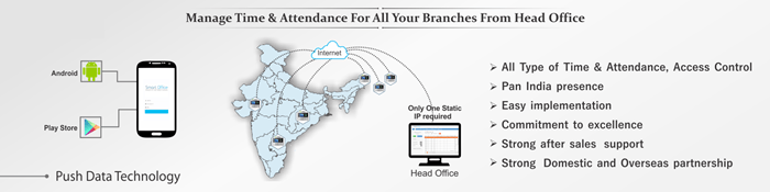 Multi Location Attendance machine