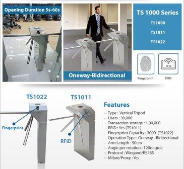 Security Tripod Turnstile TS1000-Series