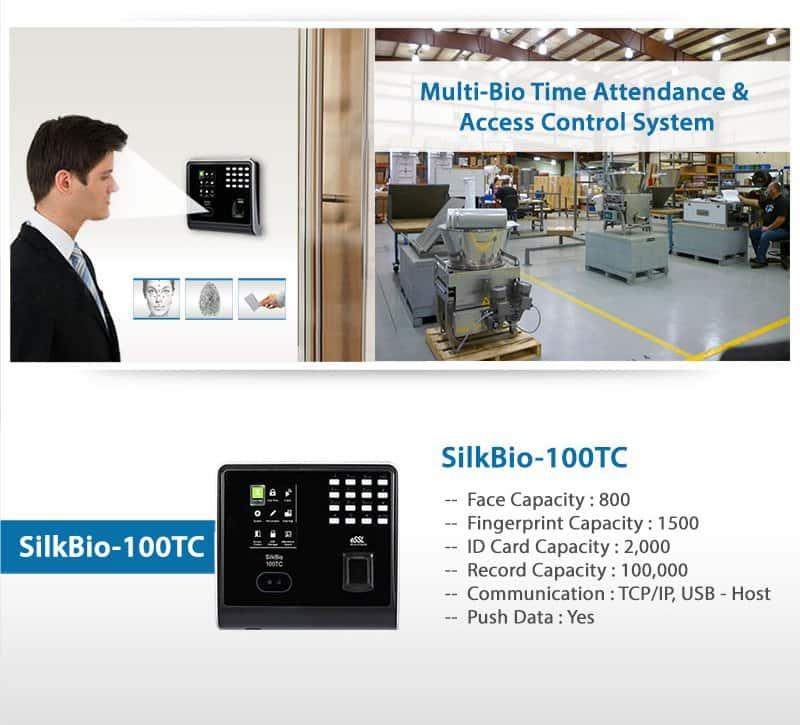 SilkBio-101TC Bio Metric Face Fingerprint Attendance Machine