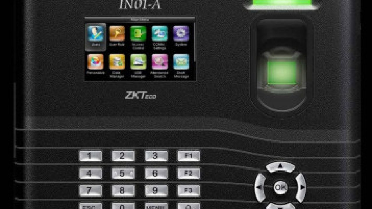Biometric Time Attendance Machine ZKTeco IN01-A [Top