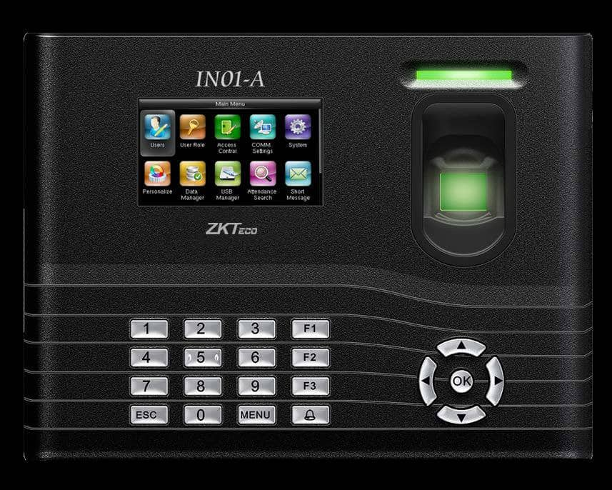 Fingerprint Time Attendance Machine ZKTeco IN01-A