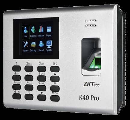 ZKTeco K40 Fingerprint Biometric System Price, Specification & Features