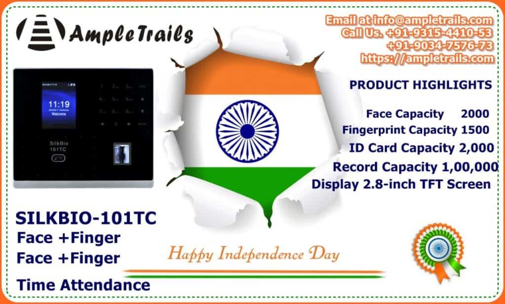 Face Fingerprint Attendance Machine