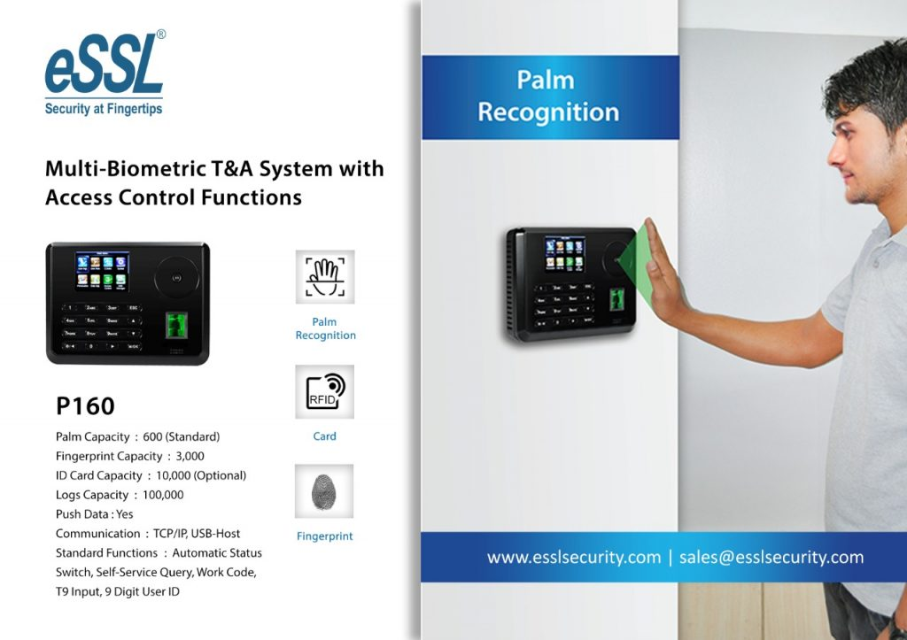 eSSL P160 Palm Recognition Attendance Machine