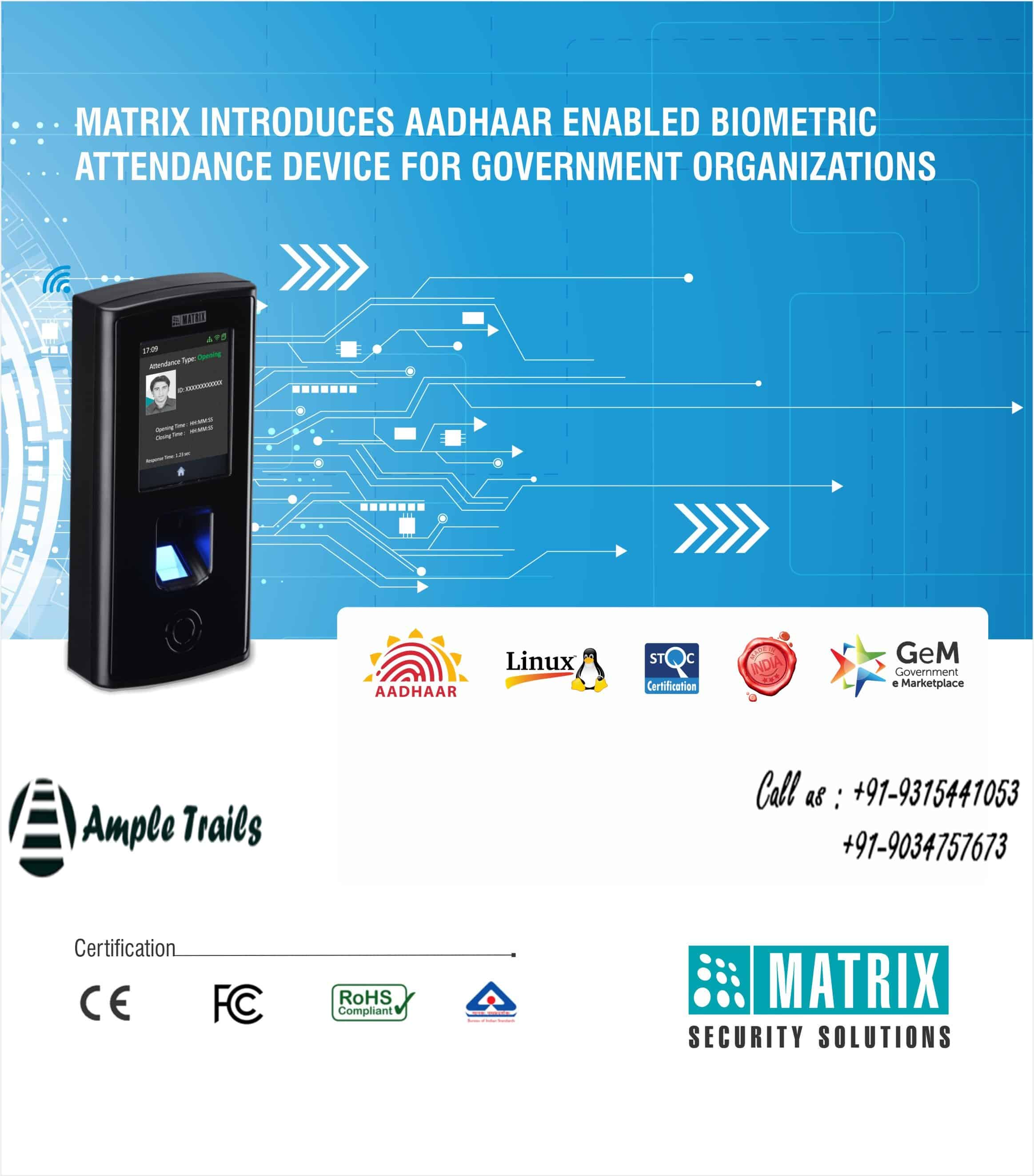 Best Aadhaar enabled biometric attendance