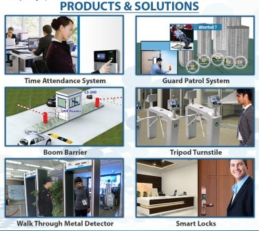 Time Attendance System Guard Patrol System Boom Barrier Tripod Turnstile Walk Through Metal Detector Smart Locks
