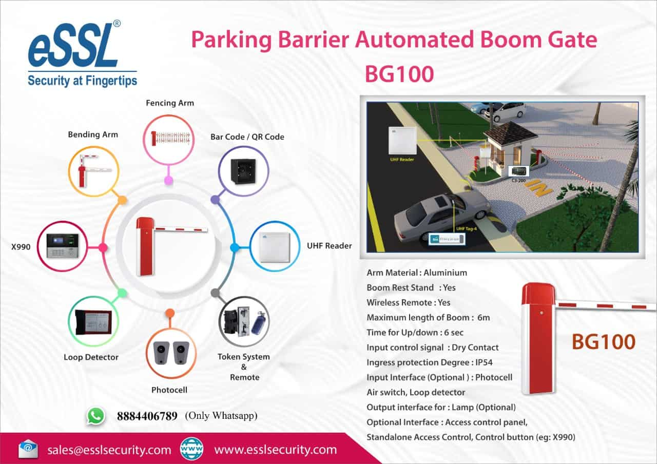 RFID Based Automated Parking Gate Solution Boom Barrier Automated