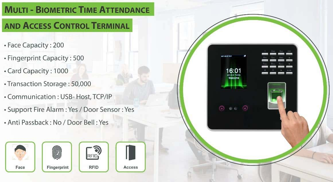 Face Fingerprint Attendance Machine
