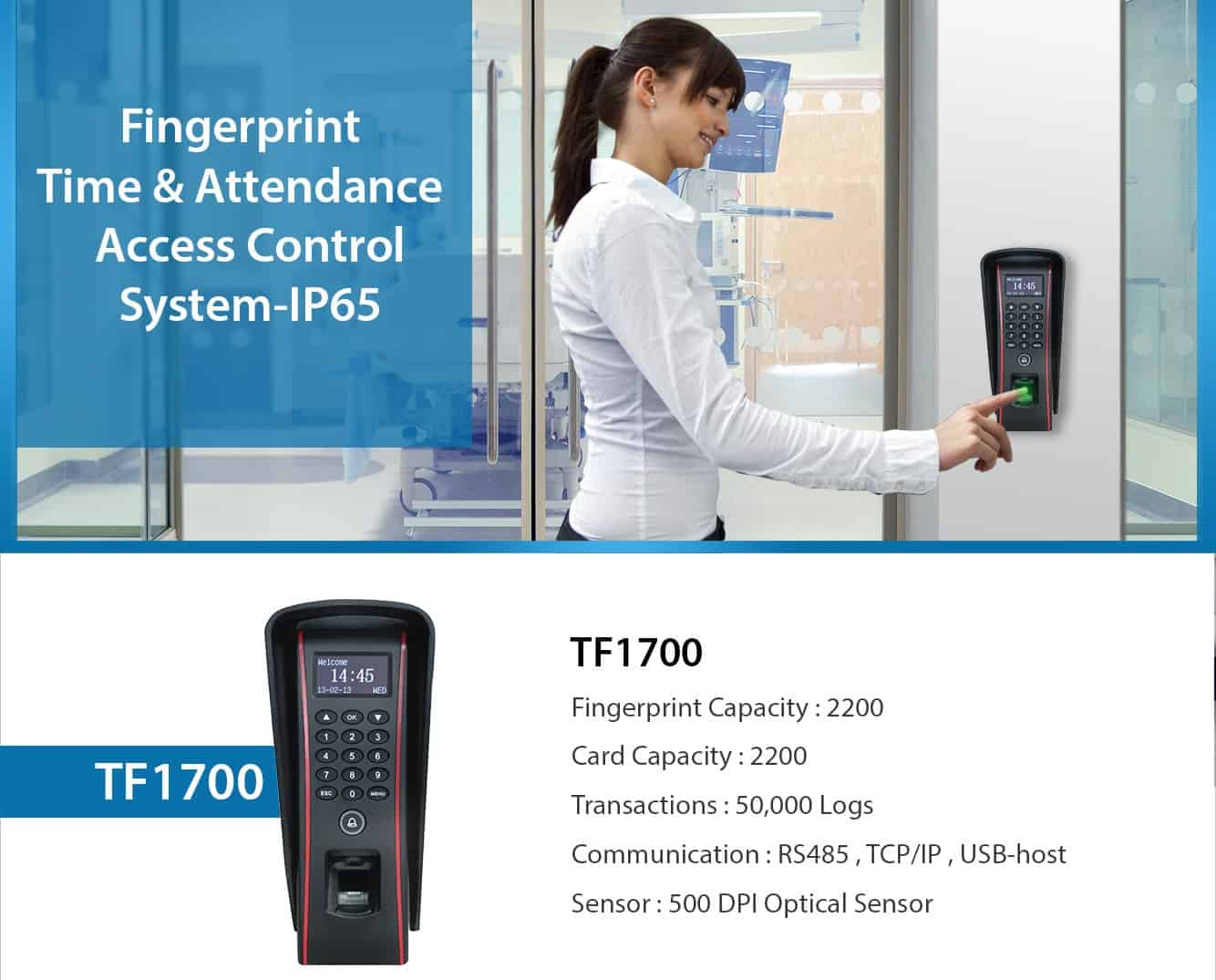 Waterproof Fingerprint Access Control eSSL TF1700