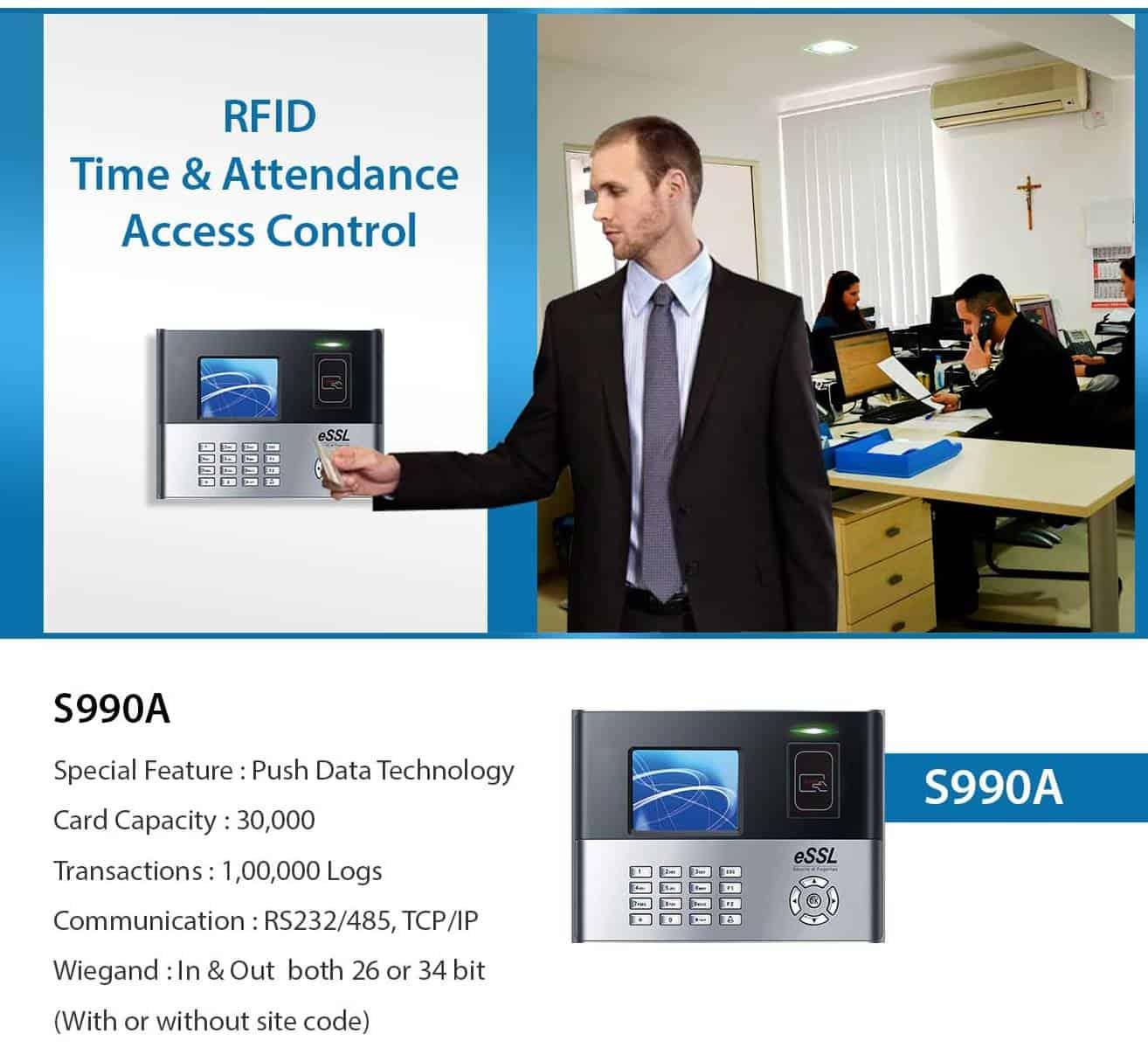 RFID Card Attendance Machine eSSL S990A