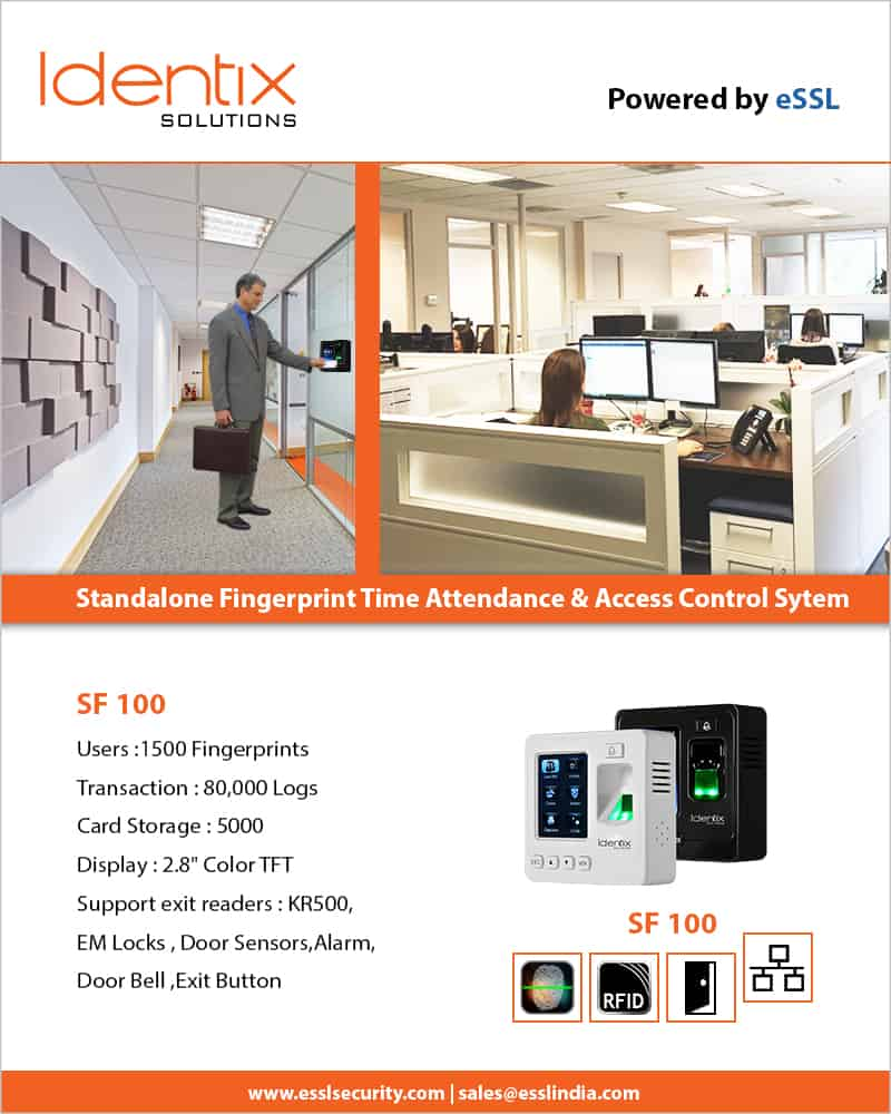 sf100 small access control system