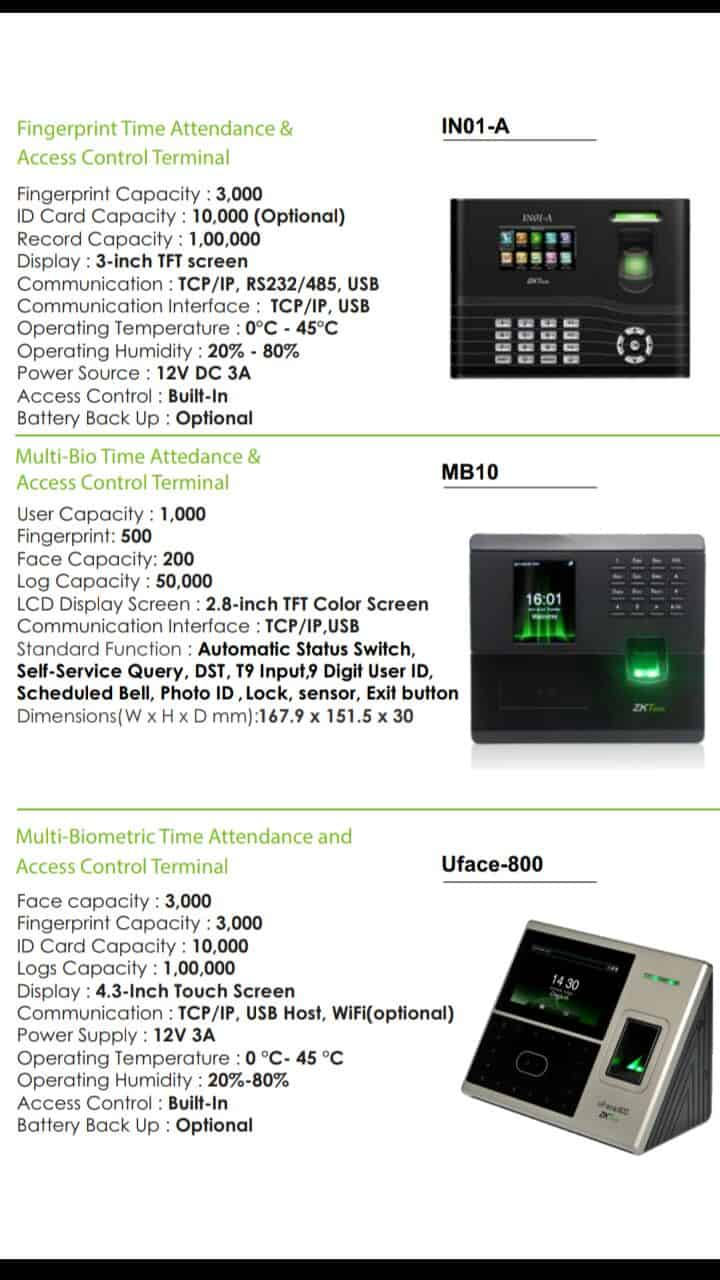 Zkteco Biometric available on best price