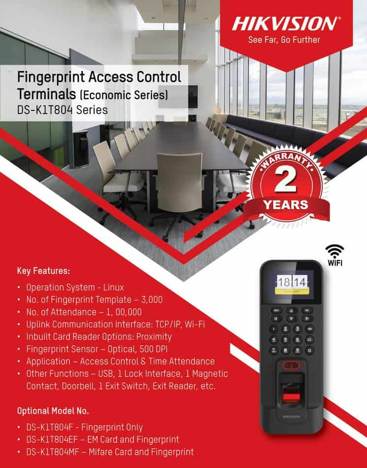Fingerprint Access Control Terminals