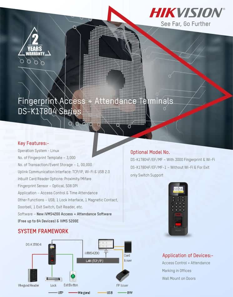 Hikvision Fingerprint Access and Attendance Terminals