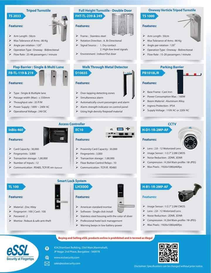 ESSL Product Range