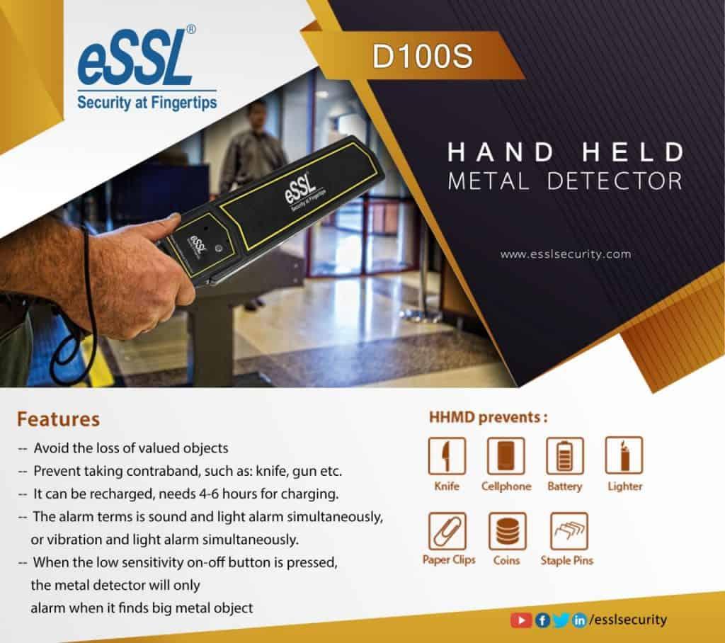 eSSL D100S Hand Held Metal Detector