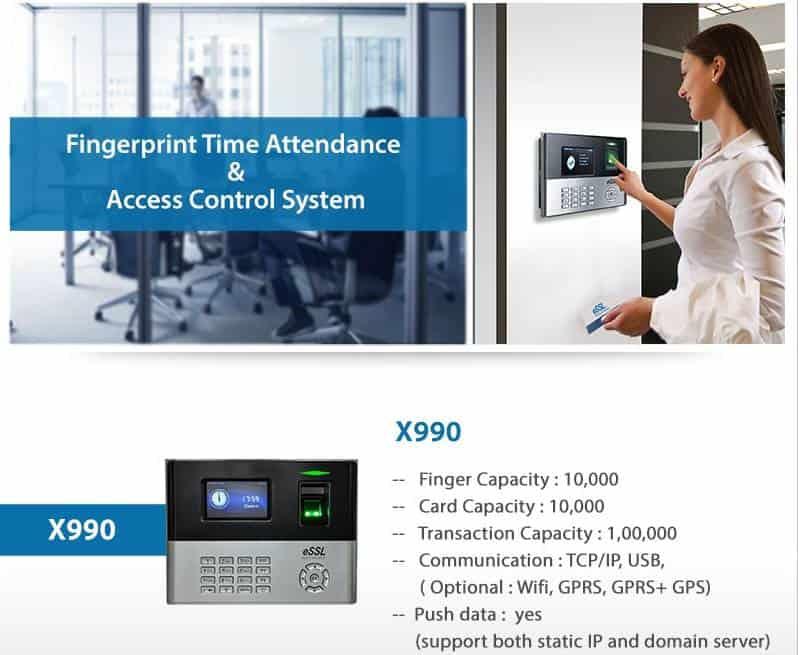 eSSL X990 Attendance Machine