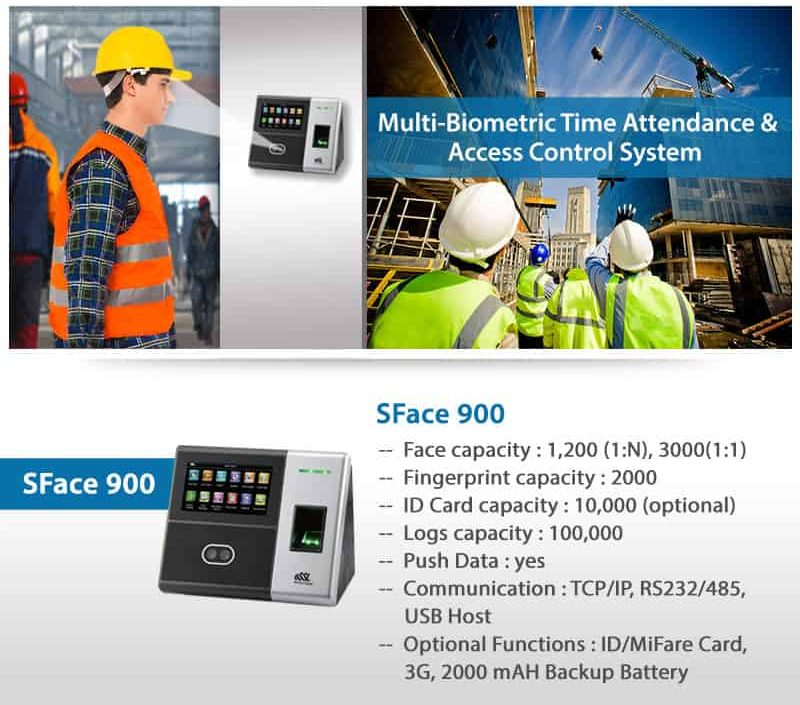 Face Recognition Biometric Attendance Machine essl SFACE 900