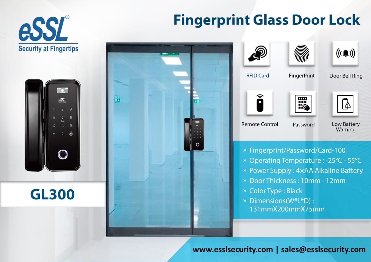 fingerprint Glass Door Lock GL300
