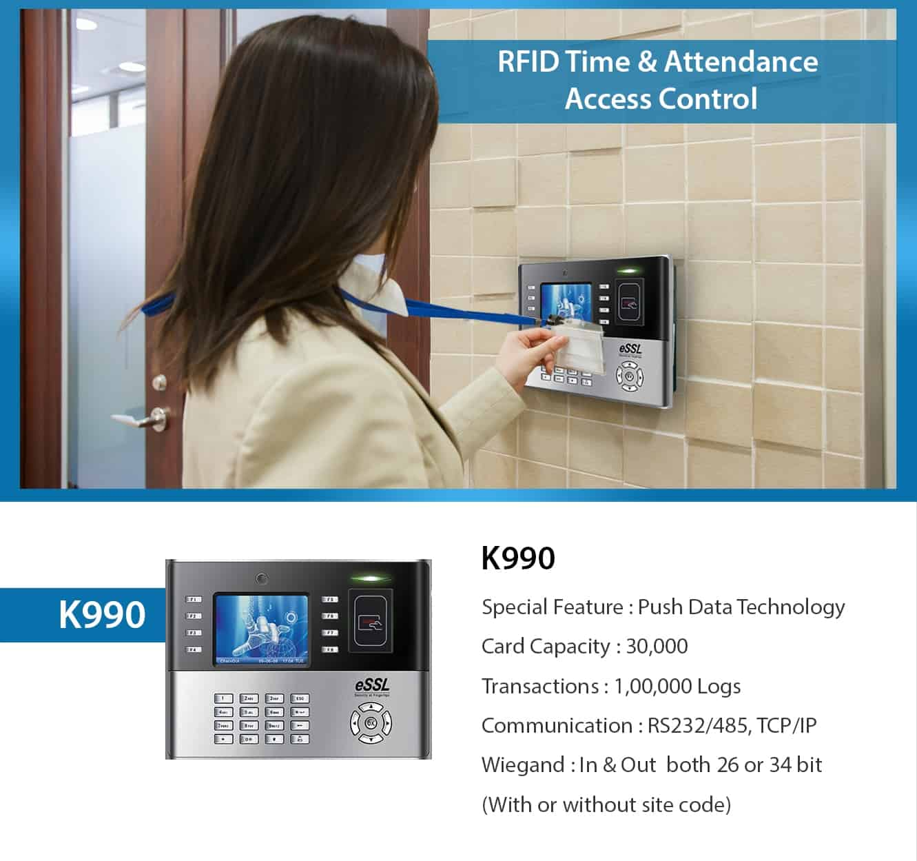 eSSL K990 RFID Access Control Machine