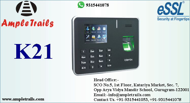Biometric Time Attendance machine with centralized data access K21