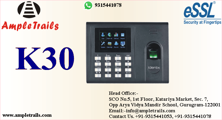 eSSL Identix K30 Pro Fingerprint Time Attendance Machine Battery