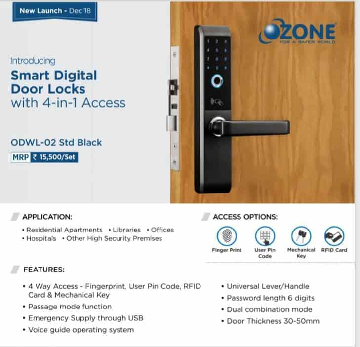 FINGERPRINT DIGITAL LOCK WITH 4 IN 1