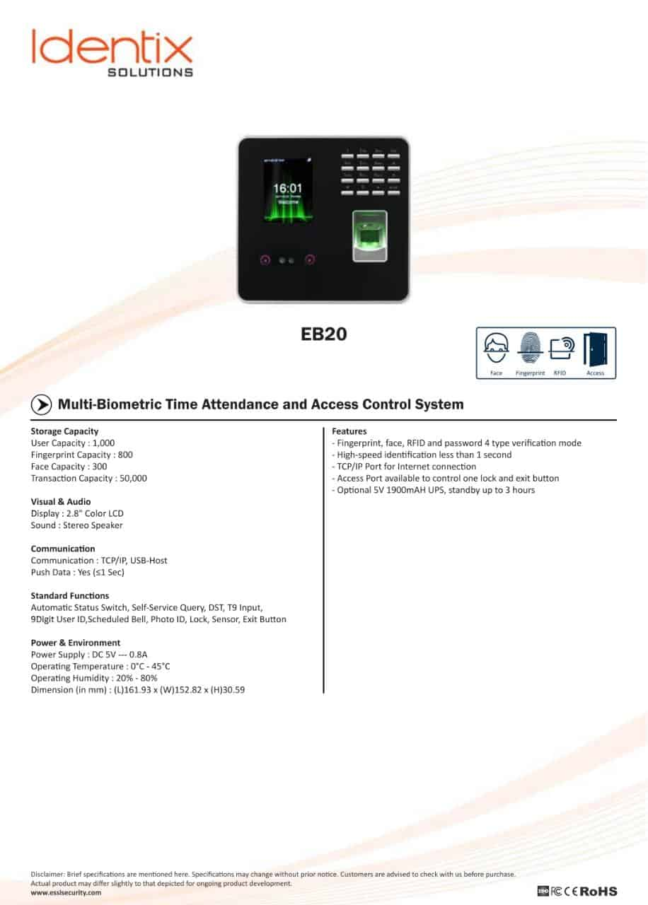 Biometric Time Attendance Machine - MaxtrixComsec Distributor