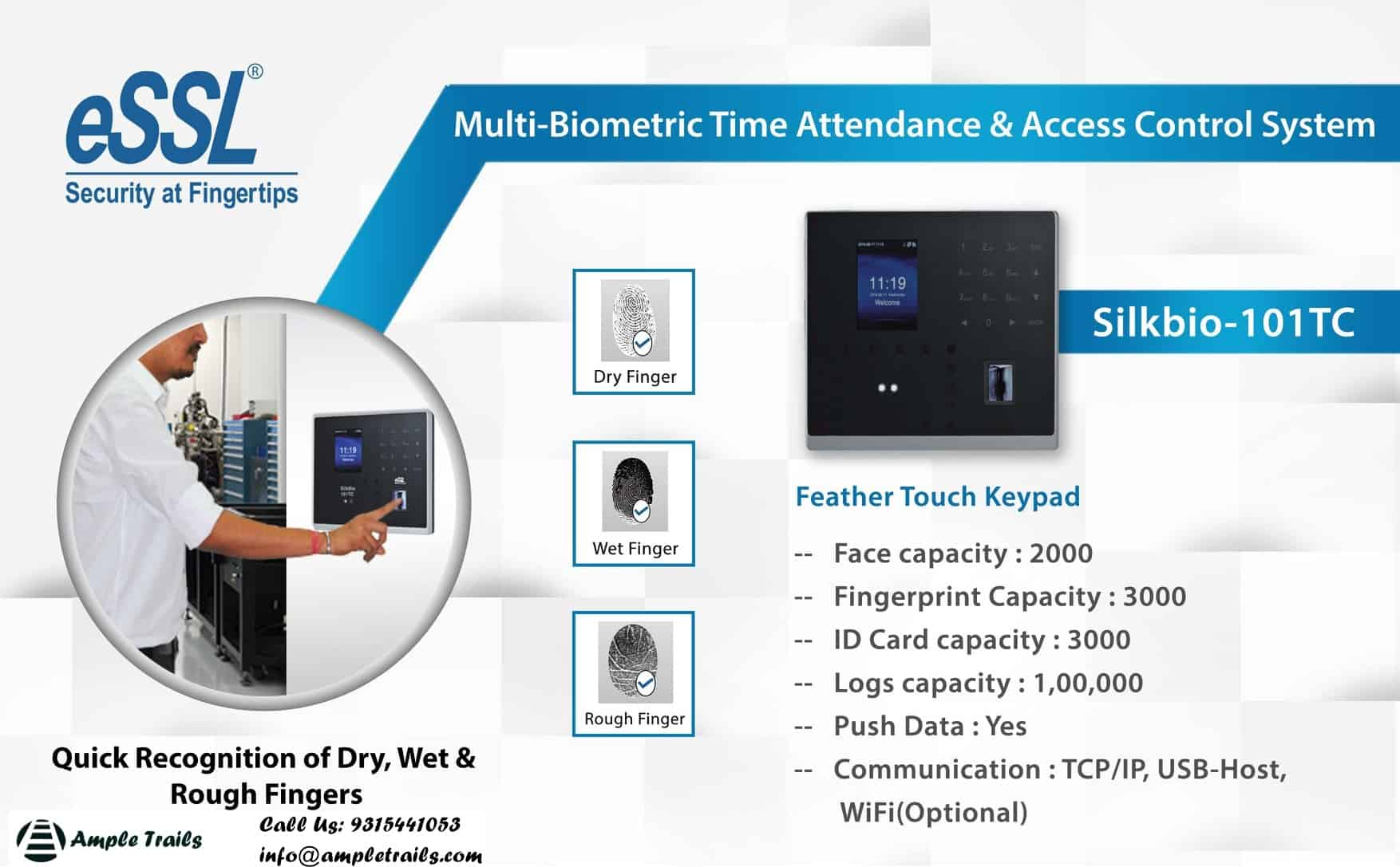 Biometric System eSSL Silkbio 101 TC Face