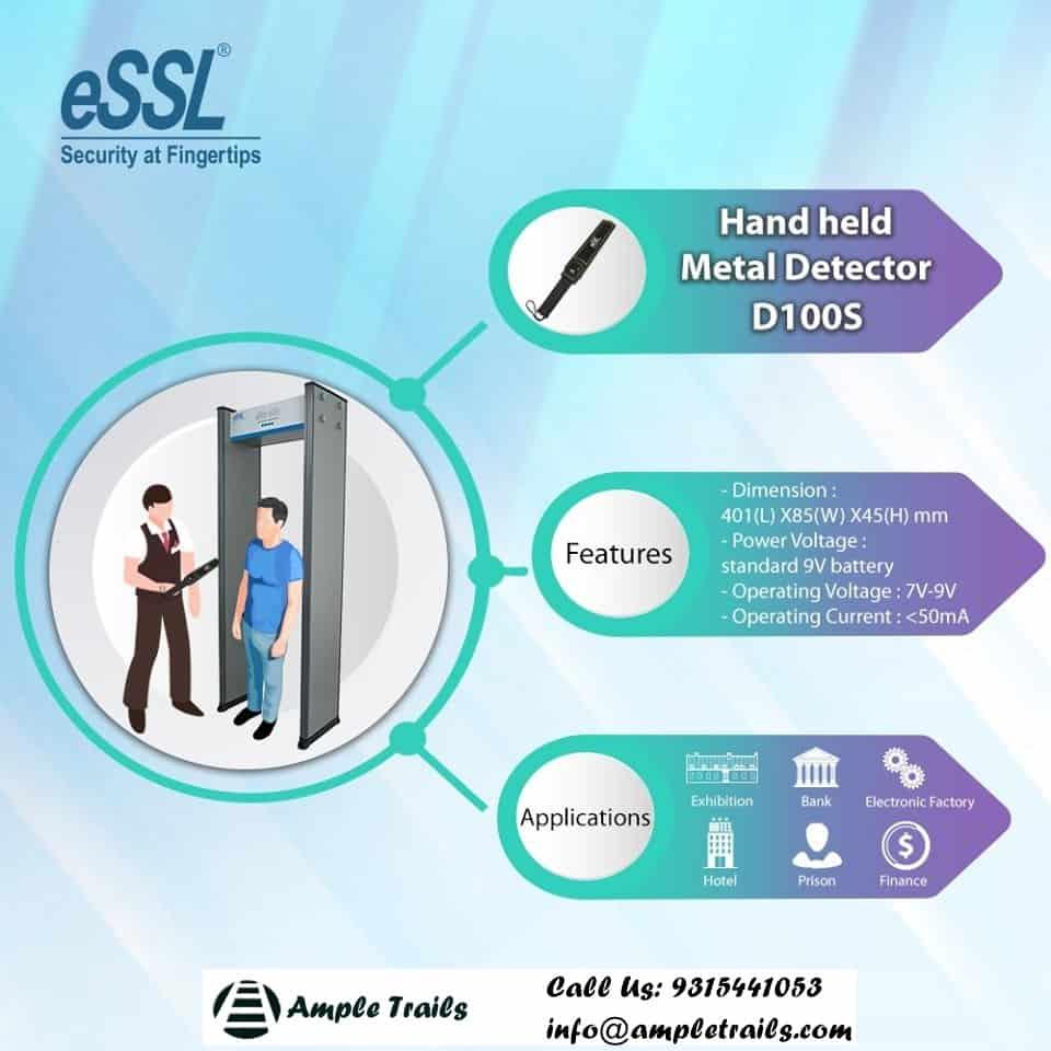 eSSL Hand Held Metal Detector